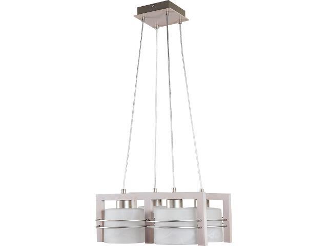 Lampa wisząca Carlo dąb bielony 4xE27 07001 Sigma