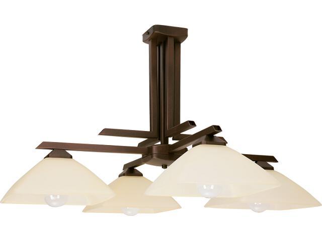 Lampa wisząca Kent brązowa 4xE27 07202 Sigma