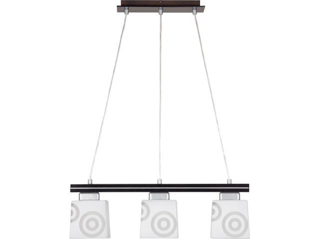 Lampa wisząca Kubik wenge 3xE27 11101 Sigma