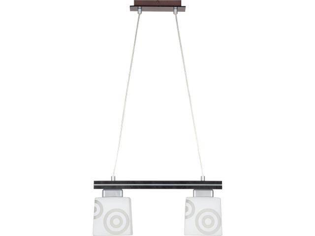 Lampa wisząca Kubik wenge 2xE27 11102 Sigma