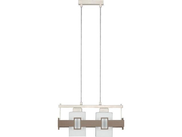 Lampa wisząca Karo beżowa 2xE27 14603 Sigma