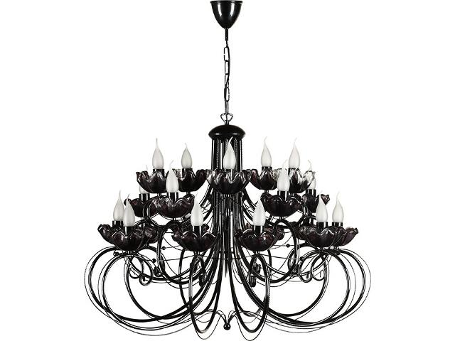 Lampa wisząca Rosa żyrandol czarny 20xE14 14302 Sigma