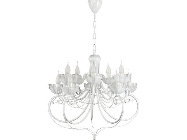 Lampa wisząca Rosa żyrandol biały 10xE14 14303 Sigma