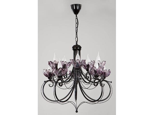 Lampa wisząca Rosa żyrandol czarny 10xE14 14304 Sigma