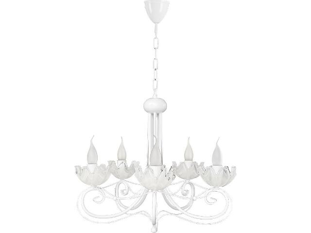 Lampa wisząca Rosa żyrandol biały 5xE14 14305 Sigma
