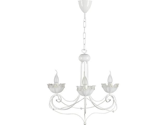 Lampa wisząca Rosa żyrandol biały 3xE14 14307 Sigma