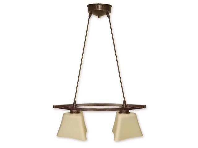 Lampa wisząca Magna listwa 2-płomienna brązowa O1242/W2 BR Lemir