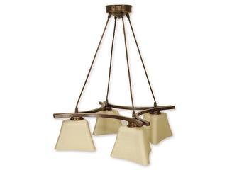 Lampa wisząca Magna listwa 4-płomienna brązowa O1244/W4 BR Lemir
