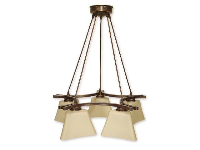 Lampa wisząca Magna listwa 5-płomienna brązowa O1245/W5 BR Lemir