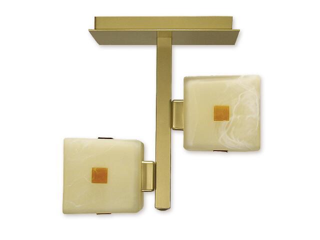 Lampa sufitowa Zeto listwa 2-płomienna złota O1211/W2 ZŁ Lemir