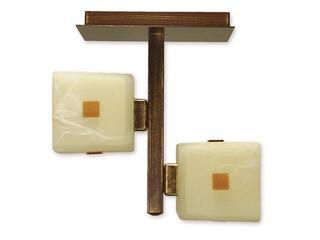 Lampa sufitowa Zeto listwa 2-płomienna brązowa O1211/W2 BR Lemir