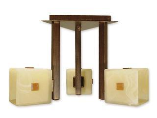 Lampa sufitowa Zeto listwa 3-płomienna brązowa O1213/W3 BR Lemir
