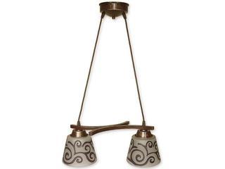 Lampa wisząca Sofi listwa 2-płomienna brązowa O1252/W2 BR Lemir