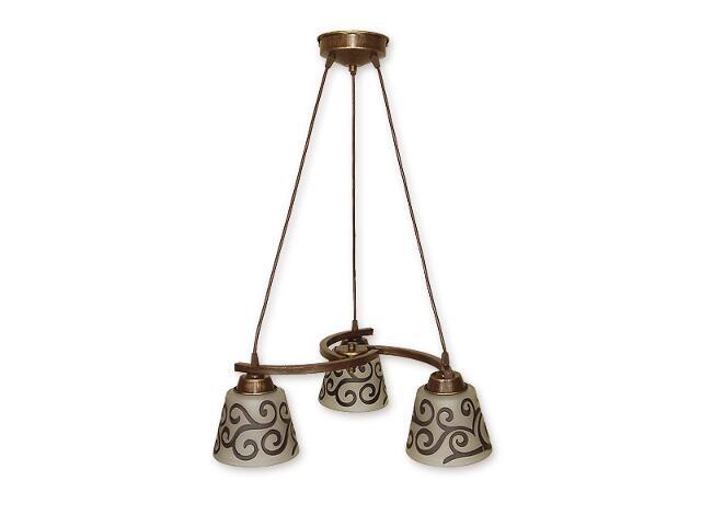 Lampa wisząca Sofi listwa 3-płomienna brązowa O1253/W3 BR Lemir