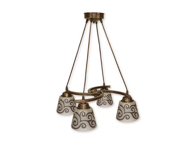 Lampa wisząca Sofi listwa 4-płomienna brązowa O1254/W4 BR Lemir