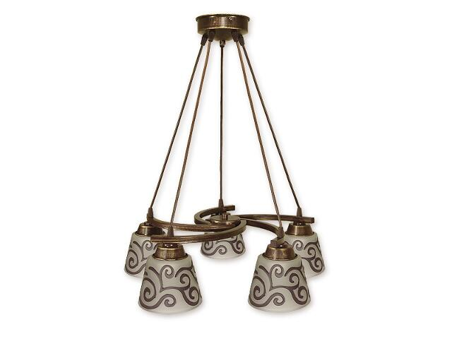 Lampa wisząca Sofi listwa 5-płomienna brązowa O1255/W5 BR Lemir