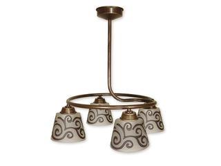Lampa wisząca Tores 4-płomienna brązowa O1264/W4 BR Lemir
