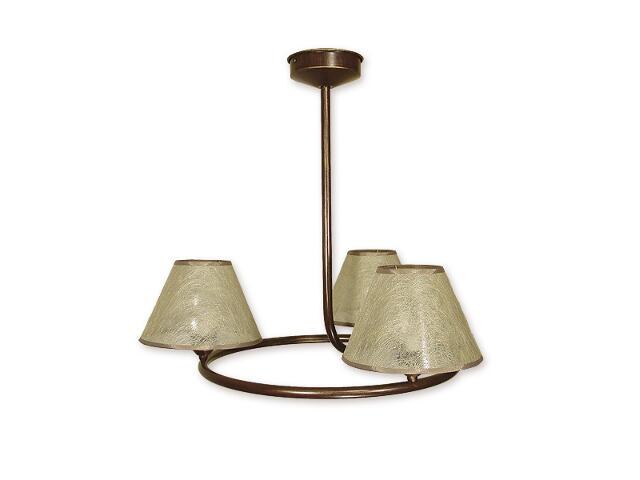 Lampa wisząca Tores 3-płomienna brązowa O1273/W3 BR Lemir