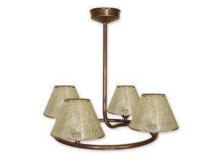 Lampa wisząca Tores 4-płomienna brązowa O1274/W4 BR Lemir