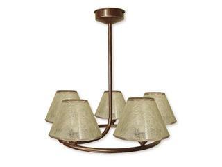 Lampa wisząca Tores 5-płomienna brązowa O1275/W5 BR Lemir