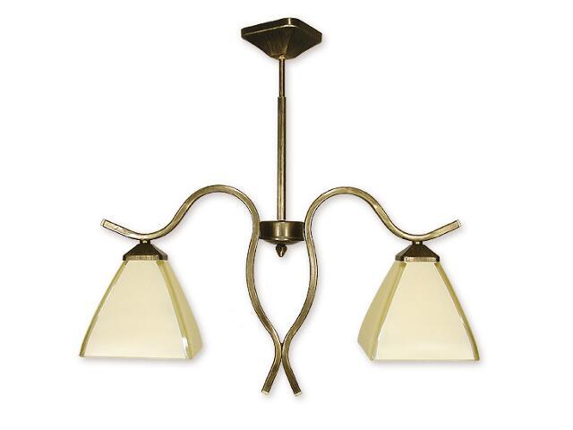 Lampa wisząca Atos 2-płomienna oliwka złota O1322/W2 Lemir