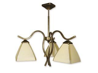 Lampa wisząca Atos 3-płomienna oliwka złota O1323/W3 Lemir