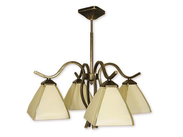 Lampa wisząca Atos 4-płomienna oliwka złota O1324/W4 Lemir