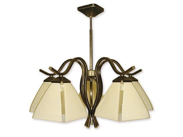 Lampa wisząca Atos 5-płomienna oliwka złota O1325/W5 Lemir