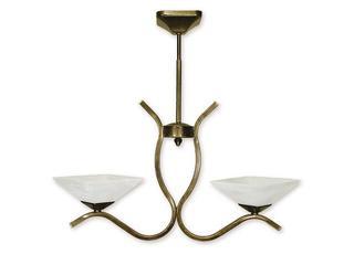 Lampa wisząca Portos 2-płomienna oliwka złota O1332/W2 Lemir