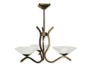 Lampa wisząca Portos 3-płomienna oliwka złota O1333/W3 Lemir