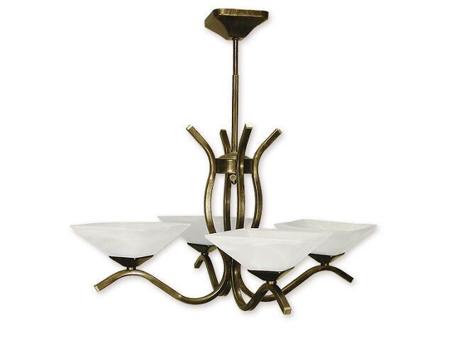 Lampa wisząca Portos 4-płomienna oliwka złota O1334/W4 Lemir