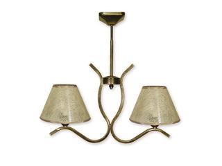 Lampa wisząca Portos 2-płomienna oliwka złota O1342/W2 Lemir