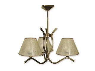 Lampa wisząca Portos 3-płomienna oliwka złota O1343/W3 Lemir