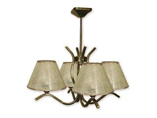 Lampa wisząca Portos 4-płomienna oliwka złota O1344/W4 Lemir