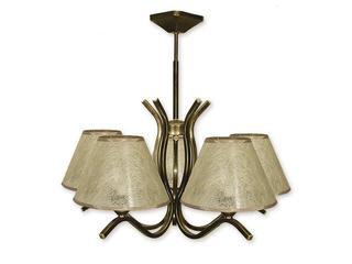 Lampa wisząca Portos 5-płomienna oliwka złota O1345/W5 Lemir