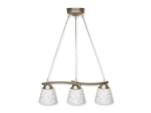 Lampa wisząca Sofi listwa 3-płomienna linia satyna O1253L/W3 SAT Lemir