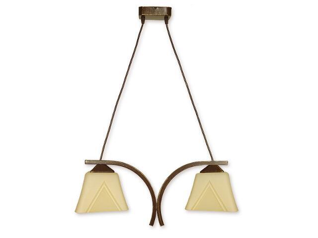 Lampa wisząca Lori 2-płomienna brązowa O1402 BR Lemir