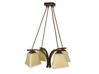 Lampa wisząca Lori 4-płomienna brązowa O1404 BR Lemir
