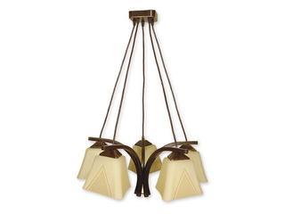 Lampa wisząca Lori 5-płomienna brązowa O1405 BR Lemir