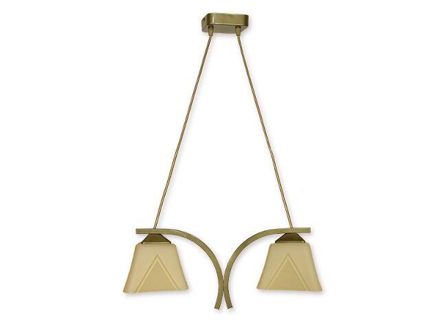 Lampa wisząca Lori 2-płomienna oliwka metalik O1402 OLM Lemir