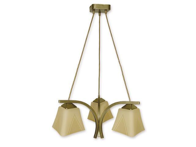 Lampa wisząca Lori 3-płomienna oliwka metalik O1403 OLM Lemir