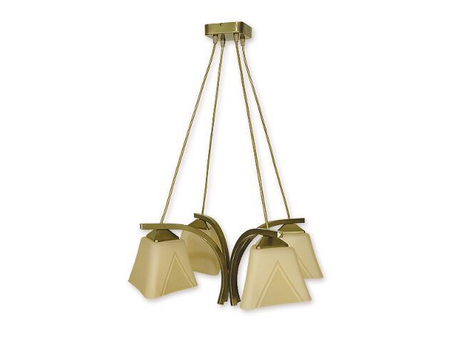 Lampa wisząca Lori 4-płomienna oliwka metalik O1404 OLM Lemir