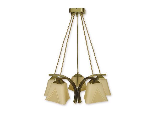 Lampa wisząca Lori 5-płomienna oliwka metalik O1405 OLM Lemir