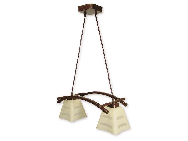 Lampa wisząca Dipol listwa 2-płomienna brązowa O1412 BR Lemir