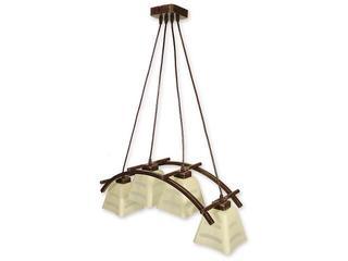 Lampa wisząca Dipol listwa 4-płomienna brązowa O1414 BR Lemir