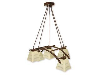 Lampa wisząca Dipol listwa 5-płomienna brązowa O1415 BR Lemir