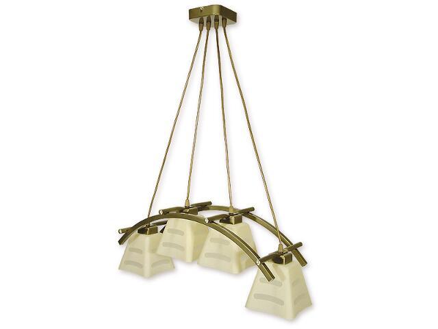 Lampa wisząca Dipol listwa 4-płomienna oliwka metalik O1414 OLM Lemir