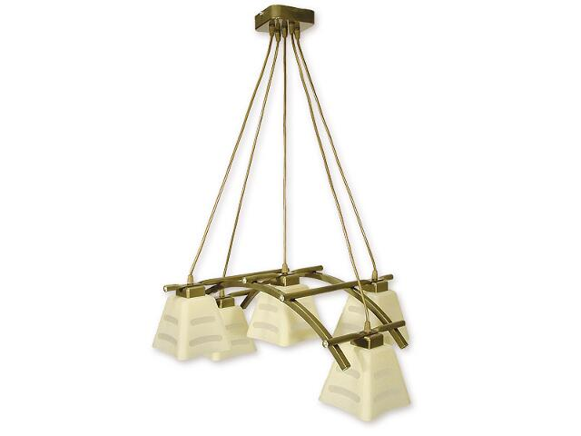 Lampa wisząca Dipol listwa 5-płomienna oliwka metalik O1415 OLM Lemir