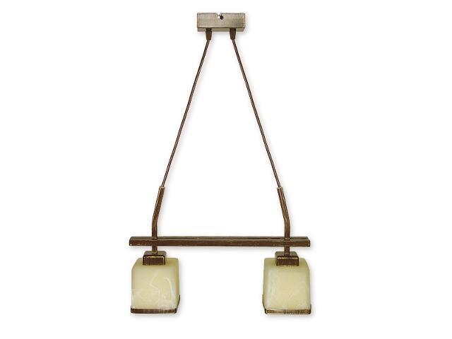 Lampa wisząca Duo listwa 2-płomienna brązowa O1422 BR Lemir