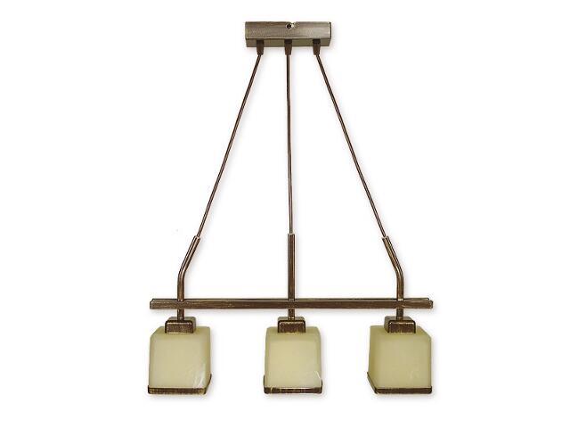 Lampa wisząca Duo listwa 3-płomienna brązowa O1423 BR Lemir